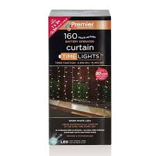 Outdoor Battery Light by 2m Outdoor Battery Curtain Lights 160 Warm White Leds