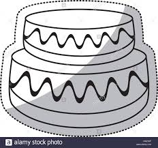 wedding cake outline wedding cake sweet outline stock vector illustration vector