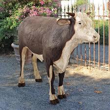 cow garden statues