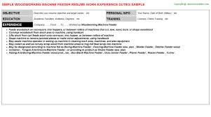 Warehouse Material Handler Resume Woodworking Machine Feeder Job Title Docs