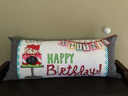 kimberbell bench pillow happy birthday for whitnie my quilts