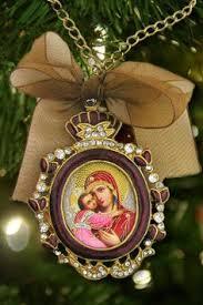 red u0026 gold small catholic icon christmas ornament faberge
