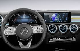 blue mercedes 2018 mercedes a class interior fully revealed
