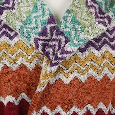 missoni home rufus 159 hooded bathrobe chevron l ebay