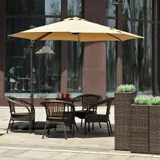 Patio Umbrellas Offset 10ft Cantilever Umbrella Outdoor Offset Patio Umbrella 360 Degree