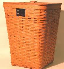 longberger rare retired new 1991 longaberger hostess hamper basket woven lid