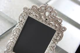 Shabby Chic Picture Frames Wholesale by 15 Vintage Style Jeweled Rhinestone Frame Gatsby Bling Silver