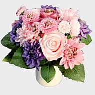 Rose Bouquet Fuchsia 9in Cheap Artificial Flowers Online Artificial Flowers For 2017