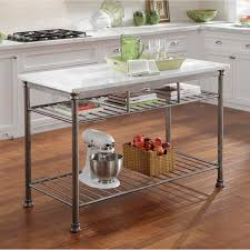 kitchen island with stainless top using marble top kitchen island home ideas collection