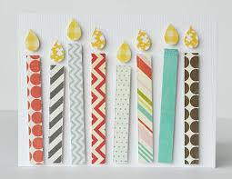 super easy handmade birthday card made with your paper scraps