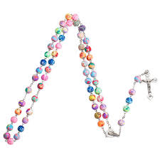 religious necklaces 2017 new arrival polymer clay bead catholic rosary necklace