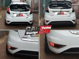 juke aftermarket tail lights 2 smoke lens red led rear bumper reflector fog light for 09 13 ford