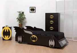 Cool Childrens Bedroom Furniture Cool Kids Bedroom Design With Batman Bed And Wallpaper Home