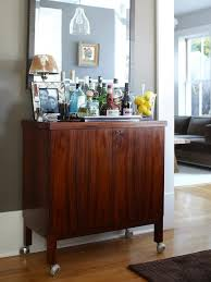 mid century modern bar cabinet eclectic dining room