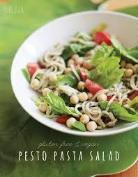 spring pasta salad with easy pesto pure