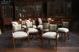Brown Leather Dining Chairs With Nailheads Upholstered Dining Chair With Arms Intended For Dining Arm Chairs