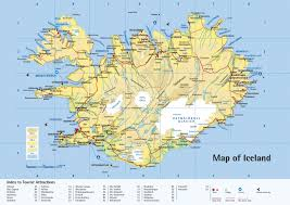 Physical Europe Map by Large Detailed Physical Map Of Iceland With Roads Cities And