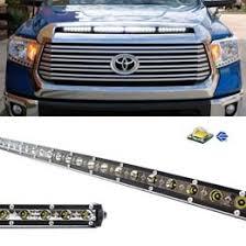2014 tundra led light bar up toyota tundra 108w cree led light bar with hood scoop bulge mount