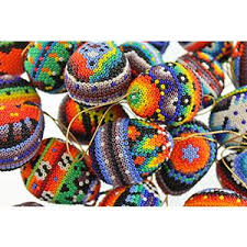 huichol bead collection small huichol egg ornaments hegg02