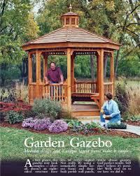 8 Sided Wooden Gazebo by Garden Gazebo Plans U2022 Woodarchivist