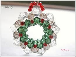 beaded christmas tutorial pattern swarovski by darlovely on zibbet
