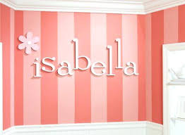 decorative wall letters nursery close up flower small dots pattern