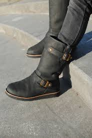ugg womens grandle boots black ugg australia s motorcycle inspired winter boot for the