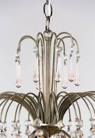 how to make a birdcage chandelier vintage murano pink teardrop and crystal chandelier 1950s for