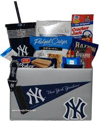 nyc gift baskets new york yankees gift basket for