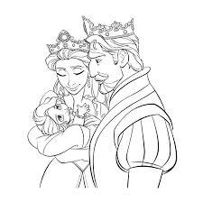 Coloriage roi et la reine Frozen à imprimer