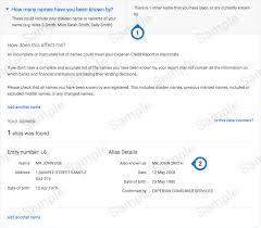 sample credit report experian