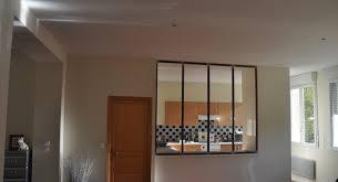 verriere dans cuisine création d une verrière acier entre salon cuisine à pleurtuit