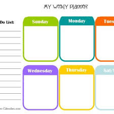 weekly exercise planner template archives word templates