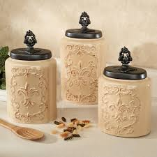 fleur de lis canisters for the kitchen furniture charming kitchen canister sets for kitchen accessories