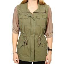 sebby women cotton canvas safari vest jacket st6140 walmart com