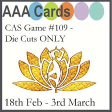aaa cards cas game 109 die cuts only