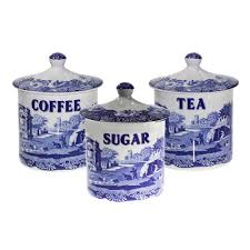 Italian Canisters Kitchen Spode Blue Italian Salt Pig Blue Italian Spode Uk I U0027ve Got