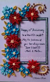 themed frames 25th wedding anniversary themed frame beautiful quilling