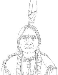 thanksgiving indian chief indian coloring pages best coloring page