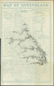 Map Of Queensland Extent Of The Queensland Railway Network In 1925 Queensland