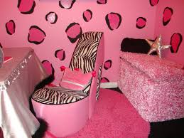 pink and zebra bedroom pink spotted wall theme and pink zebra chair on pink fur rug