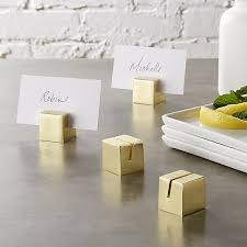 place card holders brushed gold place card holders set of 4 in table linens reviews