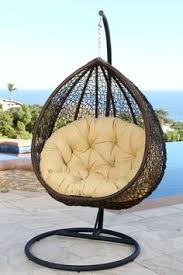 Patio Chair Swing Hanging Rattan Swing Chair Balcony Egg Swings Seat Rocking Chairs