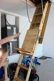 overhead ladder storage lift storage platform garage ladder