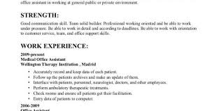 Office Assistant Job Description Resume by Resume Template Medical Office Assistant