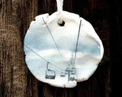ski ornament etsy