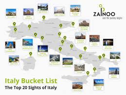 Urbino Italy Map by Zainoo Travel Infographic The Top 20 Sights Of Italy