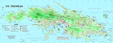 map usvi st islands map major tourist attractions