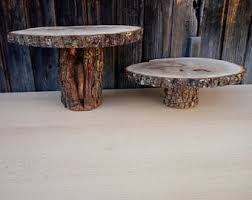rustic wedding cake stands rustic cake stand etsy