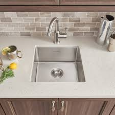 Single Tub Kitchen Sink Pekoe 17x17 Stainless Steel Kitchen Sink American Standard